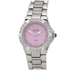 Stainless Steel Ladies' Watch with Round Pink Dial