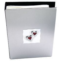 Engraved Two Hearts Photo Album