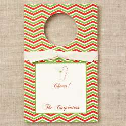 Personalized Candy Cane Martini Wine Tag
