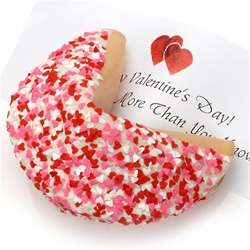Personalized Giant Fortune Cookie with Heart Sprinkles