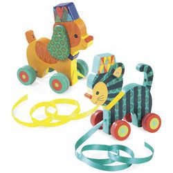 Cirque Dog and Cat Pull Toys