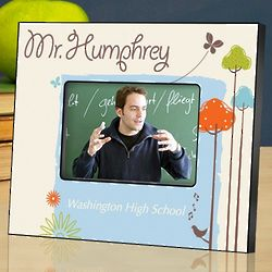 Personalized Springtime Teacher Picture Frame