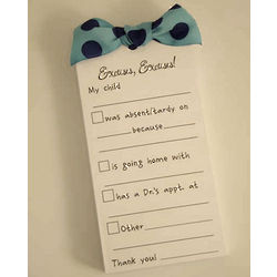 Excuses, Excuses! Notepad For Parents
