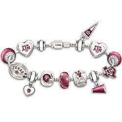 Go Texas A&M Aggies! #1 Fan Charm Bracelet