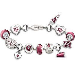 Go Texas A&M Aggies! #1 Fan Charm Bracelet