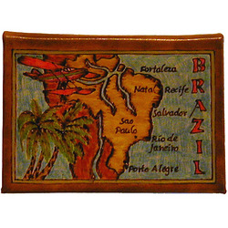 Brazil Map Leather Photo Album
