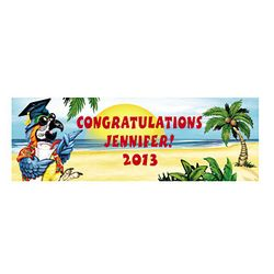Personalized Large Tropical Graduation Banner