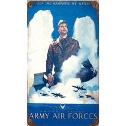 Army Air Forces Metal Sign