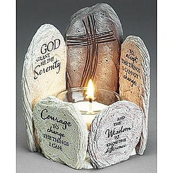 Serenity Prayer Votive Holder
