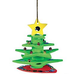 3-D Christmas Tree Ornament Craft Kit