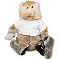"15"" Furbert Old Man Monkey with Personalized Tee"