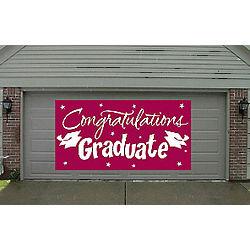 Gigantic Burgundy Congrats Graduate Banner
