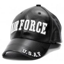 Air Force Letters Leather Cap