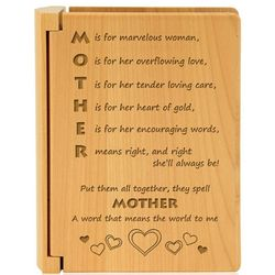 Mother Means the World Wooden Photo Album
