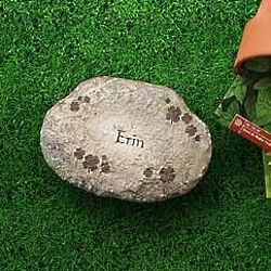 Personalized Small Irish Shamrocks Garden Stepping Stone