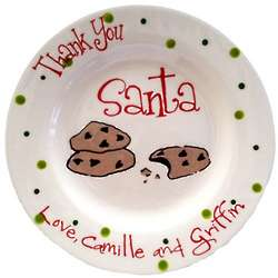 Thank You Santa Personalized Plate