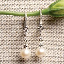 Freshwater Pearl Sterling Earrings