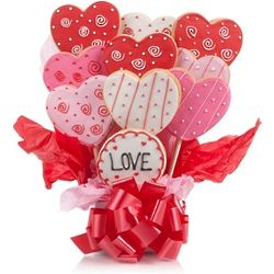Lovely Hearts Cookie Bouquet