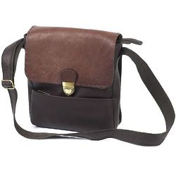 Large Two Tone Leather Man Bag