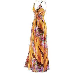 Misses Hawaiian Sunset Maxi Dress