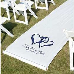 Personalized Linked Hearts Wedding Aisle Runner