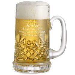 Small Cut Crystal Beer Mug