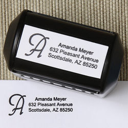 Personalized Initial Rubber Address Stamp