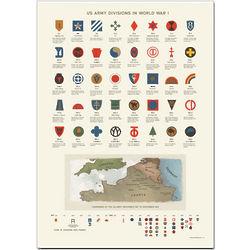 World War I US Army Divisions Insignia Print