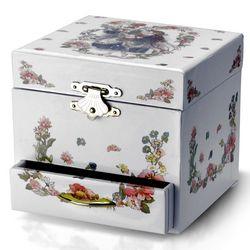 White Fairy and Spinning Ballerina Musical Jewelry Box