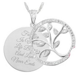 Family Is Where Life Begins and Love Never Ends Necklace