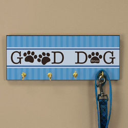 Personalized Good Dog Leash Holder