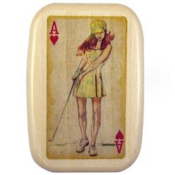 Vintage Female Golfer Tee Box