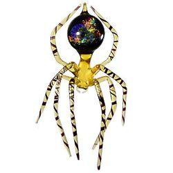 """5"""" Galaxy Spider Art Glass Figurine"""