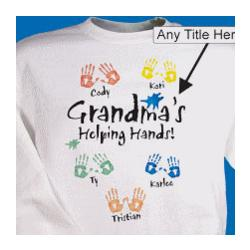 Helping Hands Personalized Sweatshirt