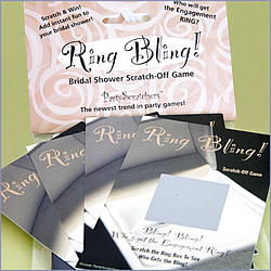 """Ring Bling"" Bridal Shower Scratch-Off Game"
