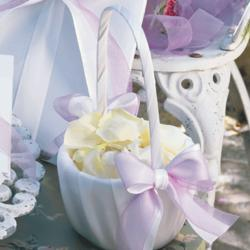 White or Ivory Flower Girl Basket