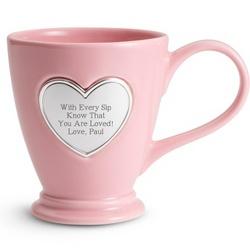 Personalized Heart Coffee Mug