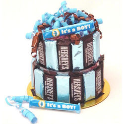 Baby Boy Candy Bar Cake