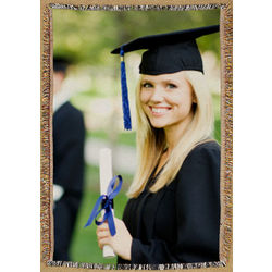 Graduation Photo Tapestry Throw Blanket