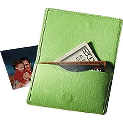 Magnetic Leather Business and Credit Card Holder