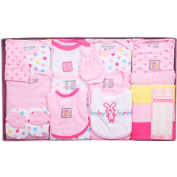 Girl's Baby Bunny 16-Piece Newborn Layette Gift Set