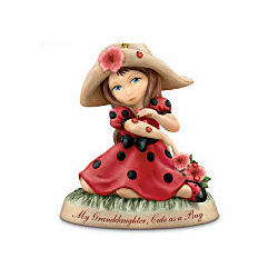 My Granddaughter Cute As a Bug Thomas Kinkade Figurine