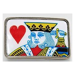 Suicide King Playing Card Belt Buckle