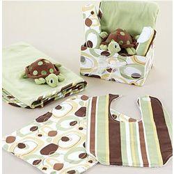 Baby Turtle Receiving Blanket Set