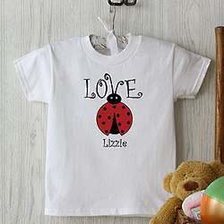Love Bug Personalized Baby T-Shirt