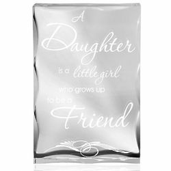 A Daughter and Friend Clear Plaque