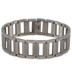 Men's Ladder Link Stainless Steel Bracelet