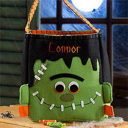 Frankenstein Personalized Halloween Trick or Treat Bag