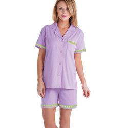 Oh-So-Soft Pin Dot Short Pajama Set