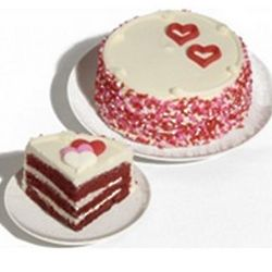 Red Velvet Cake with Hearts